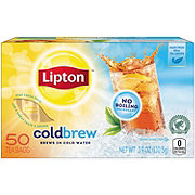 Lipton Black Iced Tea Bags Cold Brew Unsweetened