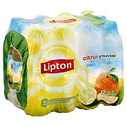Lipton Citrus Green Tea 16.9 oz Bottles