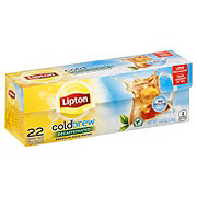 Lipton Cold Brew Family-Sized Black Iced Tea Bags Decaffeinated Unsweetened