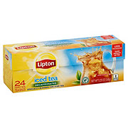 Lipton Family-Sized Black Iced Tea Bags Decaffeinated Unsweetened