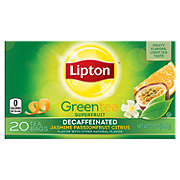 Lipton Green Tea Bags Decaffeinated Jasmine Passionfruit with Citrus