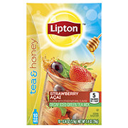 Lipton Tea and Honey Decaf Iced Green Tea To Go Packets Strawberry Acai