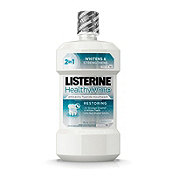 Listerine Healthy White Clean Mint Restoring Fluoride Rinse