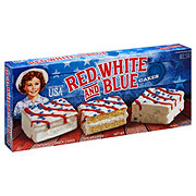 Little Debbie Red White And Blue Cakes Vanilla