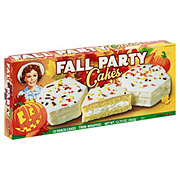 Little Debbie Vanilla Fall Party Cakes
