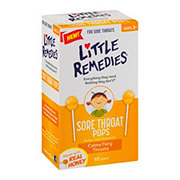 Little Remedies Sore Throat Honey Pops