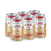 Live Soda Ginger with Probiotics 12 oz Cans