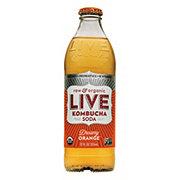 Live Soda Kombucha Raw & Organic Dreamy Orange