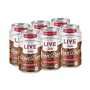 Live Soda Root Beer with Probiotics 12 oz Cans