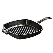 Lodge Seasoned Ready to Use Cast Iron Ribbed Square Grill Pan