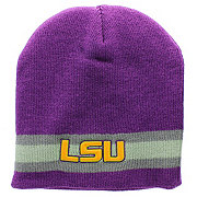Louisiana State Crisp Grey Stripe Beanie