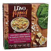 Luvo Flipped Bowl Chicken Meatballs Garlic Wine Sauce