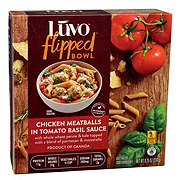 Luvo Flipped Bowl Chicken Meatballs Tomato Basil Sauce
