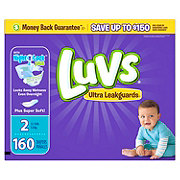Luvs Ultra Leakguards Diapers 160 ct