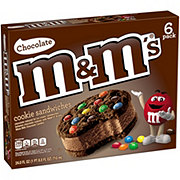 M&M's Chocolate Cookie Ice Cream Sandwiches