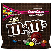 M&M's Milk Chocolate Candy Grab & Go Size Bag