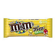 M&M's Peanut Chocolate Candy Fun Size Pouch Pack, 6 ct
