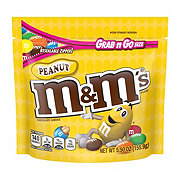 M&M's Peanut Chocolate Candy Grab & Go Size Bag