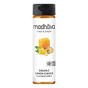 Madhava Organic Lemon Ginger Zest Flavored Honey