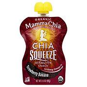 Mamma Chia Chia Squeeze Organic Strawberry Banana Vitality Snack
