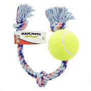 Mammoth Flossy Chews 3 Knot Tug With Tennis Ball Size Extra Large, Assorted Colors