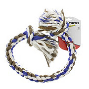 Mammoth Flossy Chews 42 Inch 2 Knot Rope Tug, Assorted Colors