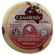 Maple Leaf Cranberry White Cheddar Cheese Round