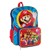Mario Backpack With Lunch Kit