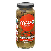 Mario Organic Pitted Green Olives with Olive Oil