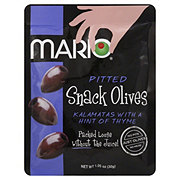 Mario Pitted Snack Olives Kalamatas With a Hint Of Thyme