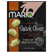 Mario Pitted Snack Olives with a Hint of Garlic