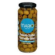 Mario Spanish Manzanilla Olives Stuffed with Minced Pimento