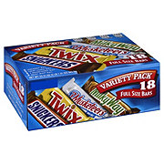 Mars Variety Pack Full Size Bars, 18 ct