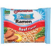 Maruchan Beef Ramen Noodle Soup Less Sodium