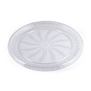 Maryland Plastics Clear Swirl Tray, 12 in