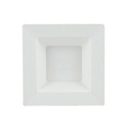 MaryLand Plastics White Square Dessert Bowl
