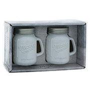 Mason Craft & More 4.5oz White Salt & Pepper Jar Shakers