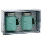 Mason Craft & More Aqua Glass 4.5 oz Salt And Pepper Jar Shakers