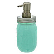 Mason Craft & More Aqua Glass Soap Pump