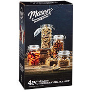 Mason Craft & More Mini Glass Clamp Canisters