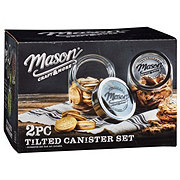 Mason Craft & More Tilted Glass Canister