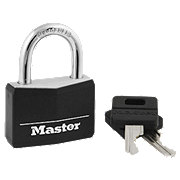 Master Lock Black Covered Brass Padlock