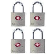 Master Lock Brass TSA Accepted Padlock With Keys Alike