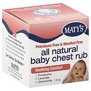 Maty's All Natural Baby Chest Rub Soothing Comfort