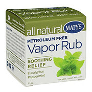 Maty's All Natural Vapor Rub Soothing Relief