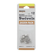 Maxtec Nickel Interlocking Size 12 Snap Swivels