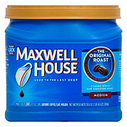 Maxwell House Original Roast Medium Roast Ground Coffee   Shop Bagged And  Canned Coffee At HEB