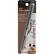 Maybelline Brow Define + Fill Duo Eyebrow Pencil, Medium Brown