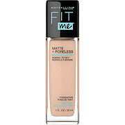 Maybelline New York Fit Me Matte + Poreless Foundation, Creamy Beige
