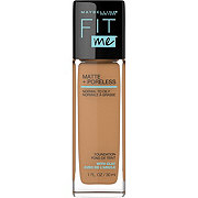 Maybelline New York Fit Me Matte + Poreless Foundation, Golden Caramel